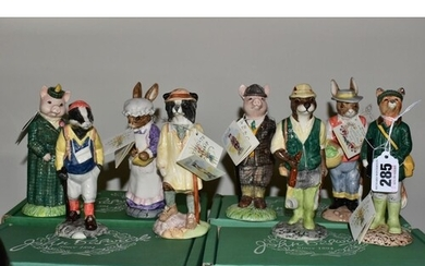 EIGHT BOXED BESWICK FIGURES FROM ENGLISH COUNTRY FOLK SERIES...