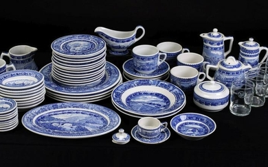 FIFTY-FIVE PIECES OF B&O 'CENTENARY' RAILROAD CHINA