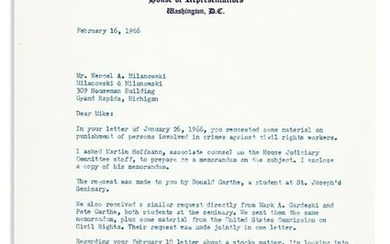 """FORD, GERALD R. Typed Letter Signed, """"Jerry,"""" as"""