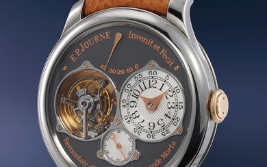 F.P. Journe, A highly complicated and absurdly scarce pink gold and titanium wristwatch with tourbillon regulator, deadbeat seconds, remontoir d'egalite, power reserve indication, Certificate and box, number 2 of a 5 pieces limited edition