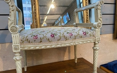 French Louis XVI painted bench
