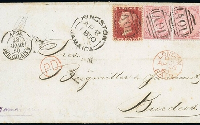 Great Britain Used in Jamaica Imperial Issues used at the Post Towns after the arrival of the O...