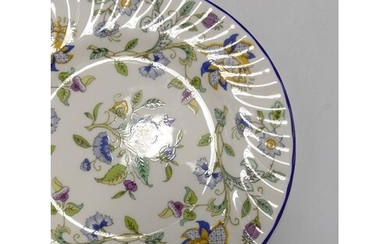Minton Haddon Hall blue patterned tea and dinner ware to inc...