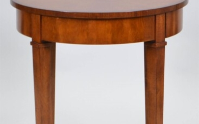 NEOCLASSICAL STYLE INLAID FRUITWOOD SIDE TABLE