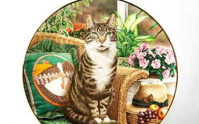 Royal Doulton Collectors Plate, The Conservatory Cat