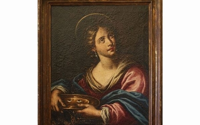 Saint Lucy, Scuola di Matteo Rosselli Florence, mid of 17th century