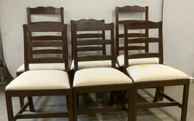 Set 6 ELDRED WHEELER Upholstered Dining Chairs