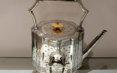 19th Century Antique Victorian Sterling Silver Kettle