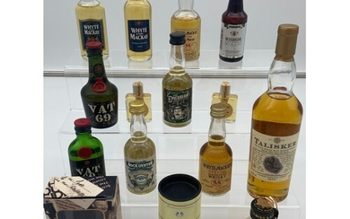 A Selection of collectable whisky miniatures to include Tali...