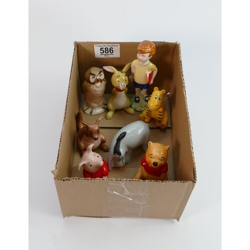 A collection of Beswick Christopher Robin figures (8)