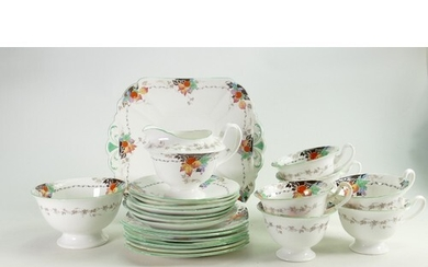 A collection of Shelley Gainsborough 11700 shape Floral patt...