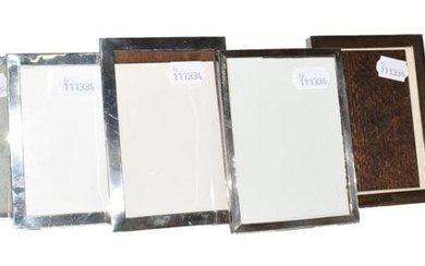 A collection of Six Various Silver-Mounted Photograph-Frames, each oblong, four...