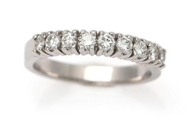 NOT SOLD. A diamond ring set with numerous brilliant-cut diamonds, mounted in 18k white gold. Size 53. – Bruun Rasmussen Auctioneers of Fine Art