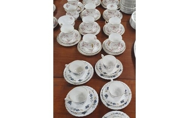 A large quantity of Paragon China Teawares Victorian Rose pa...