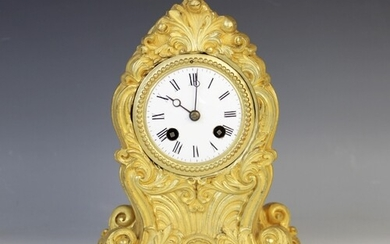 A late 19th century French Japy Freres ormolu mantel clock, ...