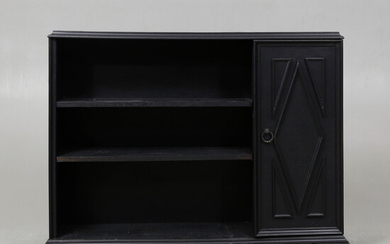 BOOK SHELF with CABINET, painted, 20th century.