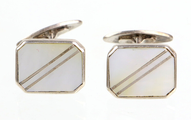 CUFFLINKS, WITH MOTHER-OF-PEARL SILVER 835.