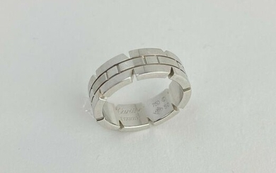 Cartier Tank Francaise 18k White Gold 6mm Band Ring