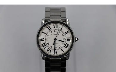 Cartier pashas watch late 1990s model custom dial all with b...