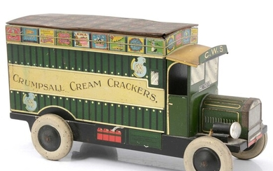 'Crumpsall Cream Crackers' CWS Co-operative Wholesale Society Ltd biscuit tin delivery van.