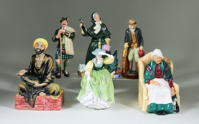 """Eleven Royal Doulton Pottery Figures, including - """"The Laird""""..."""