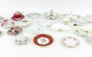 GROUPING OF LIMOGES & DEMITASSE CUPS, ETC.