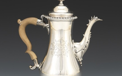 George III English Sterling Silver Coffee Pot, by Thomas Whipham & Charles Wright, London, dated 1767