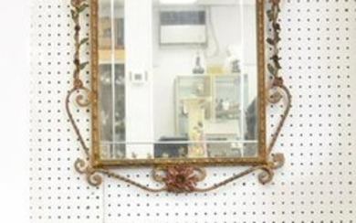 IRON & MARBLE TOP CONSOLE WITH MIRROR