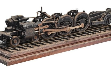 Model of a Steam Locomotive on a Track