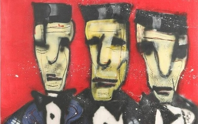 Oil painting after Herman Brood