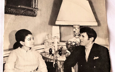 PLATE WITH INTERVIEW: MARIA CALLAS AND JACQUES BOURGEOIS; RARITY from 1968.