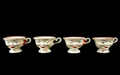 Pottery Smiling Face Cups