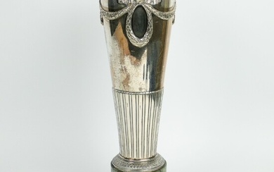 Silver 800 trophee on a marble base