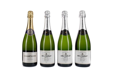 THREE BOTTLES OF ABEL CHARLOT AND ONE MARQUIS BELRIVE