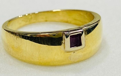 18 kt. Gold, White gold - Ring - 0.18 ct Ruby