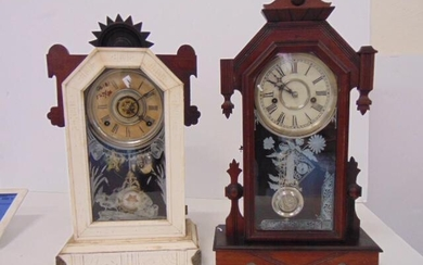 2 Gingerbread Clock , Waterbury and Gilbert, Time and