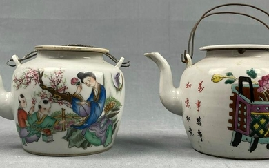 2 porcelain teapots. Probably China antique.