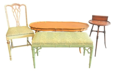 4 piece group of assorted Furniture to include a faux