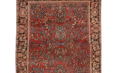 5'1 x 6'6 Hand-Knotted Persian Floral Area Rug