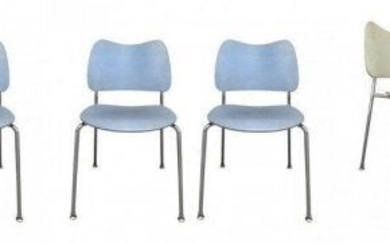 6 Stacking Chairs Made in Sweden by Lammhults Mobel AB