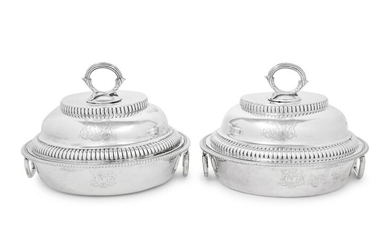 A Pair of George III Silver Covered Entree Dishes