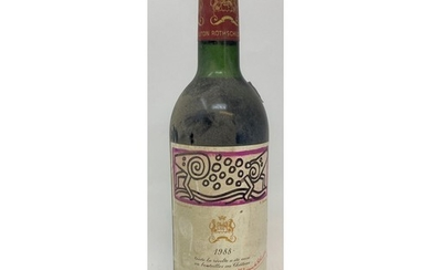 A bottle of Chateau Mouton Rothschild, Pauillac, 1988