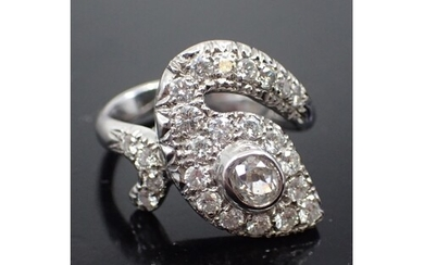 A diamond cluster ring, total estimated weight of diamonds i...