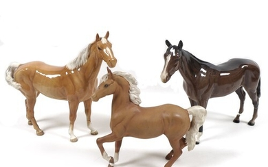 A group of damaged Beswick horses, comprising 'Swish Tail Ho...