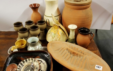 A large quantity of studio and other pottery items.