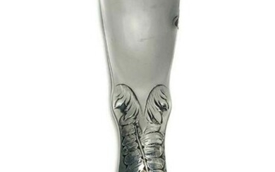 American Sterling Silver Floral Relief Shoe Horn
