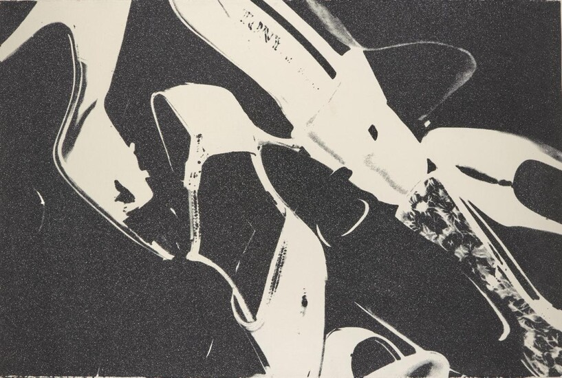 Andy Warhol, American 1928-1987- Shoes (Black and White) [Feldman and Schellmann II. 255], 1980; screenprint with diamond dust on Arches wove, signed and numbered from the edition of 60 in pencil verso, printed by Rupert Jason Smith, New York...