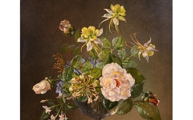 Cecil Kennedy (1905-1997) British. Still Life of Flowers in ...