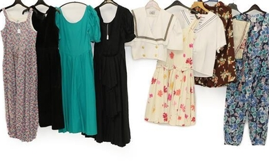 Circa 1970/80 Ladies' Costume Mainly Laura Ashley, including a cotton...