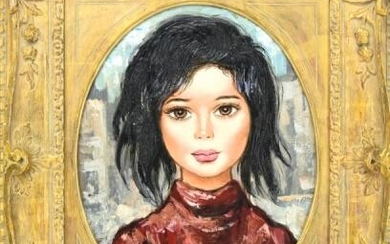 Contemporary Portrait Painting of Young Woman